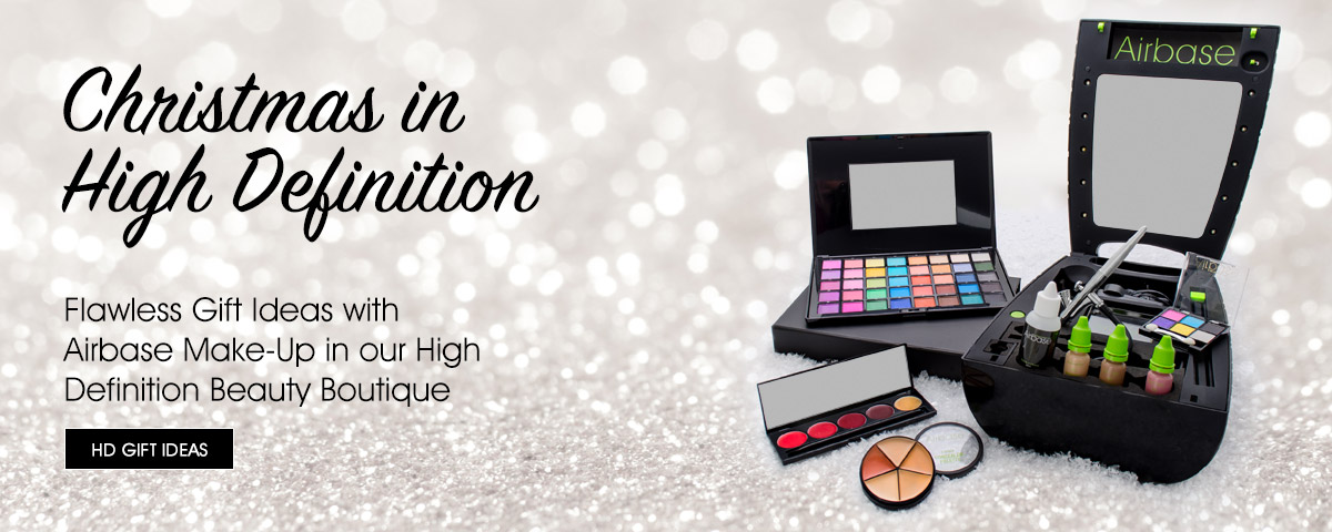 Christmas in High Definition - Flawless Gift Ideas with Airbase Make-Up in our High Definition Beauty Boutique