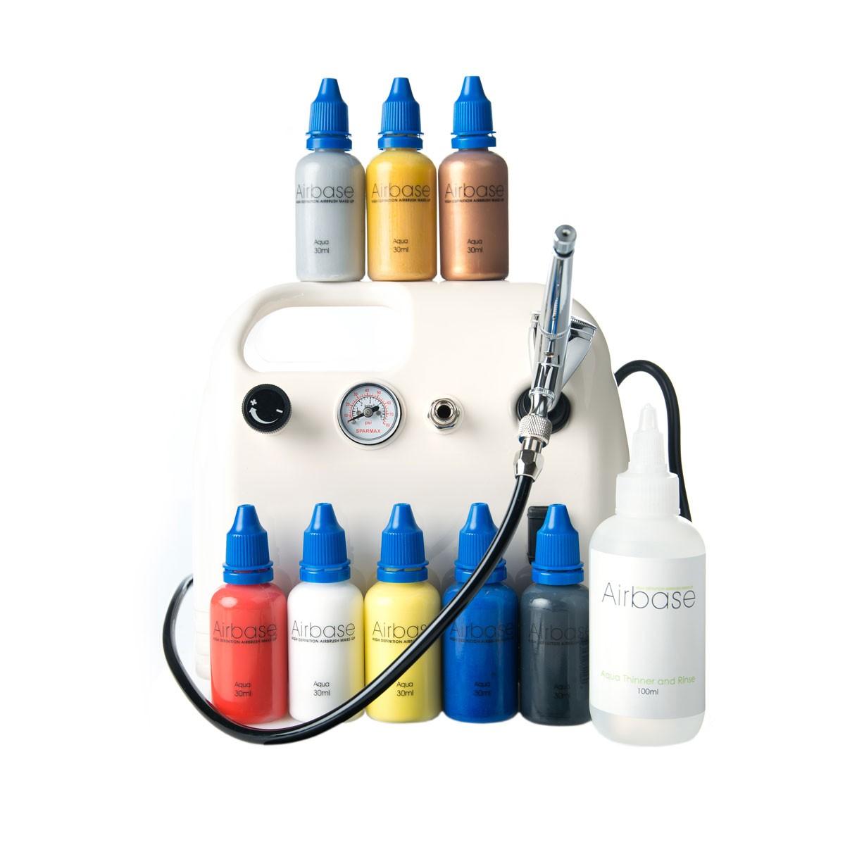 Airbrush Body Art Kit - 8 Primary Colours