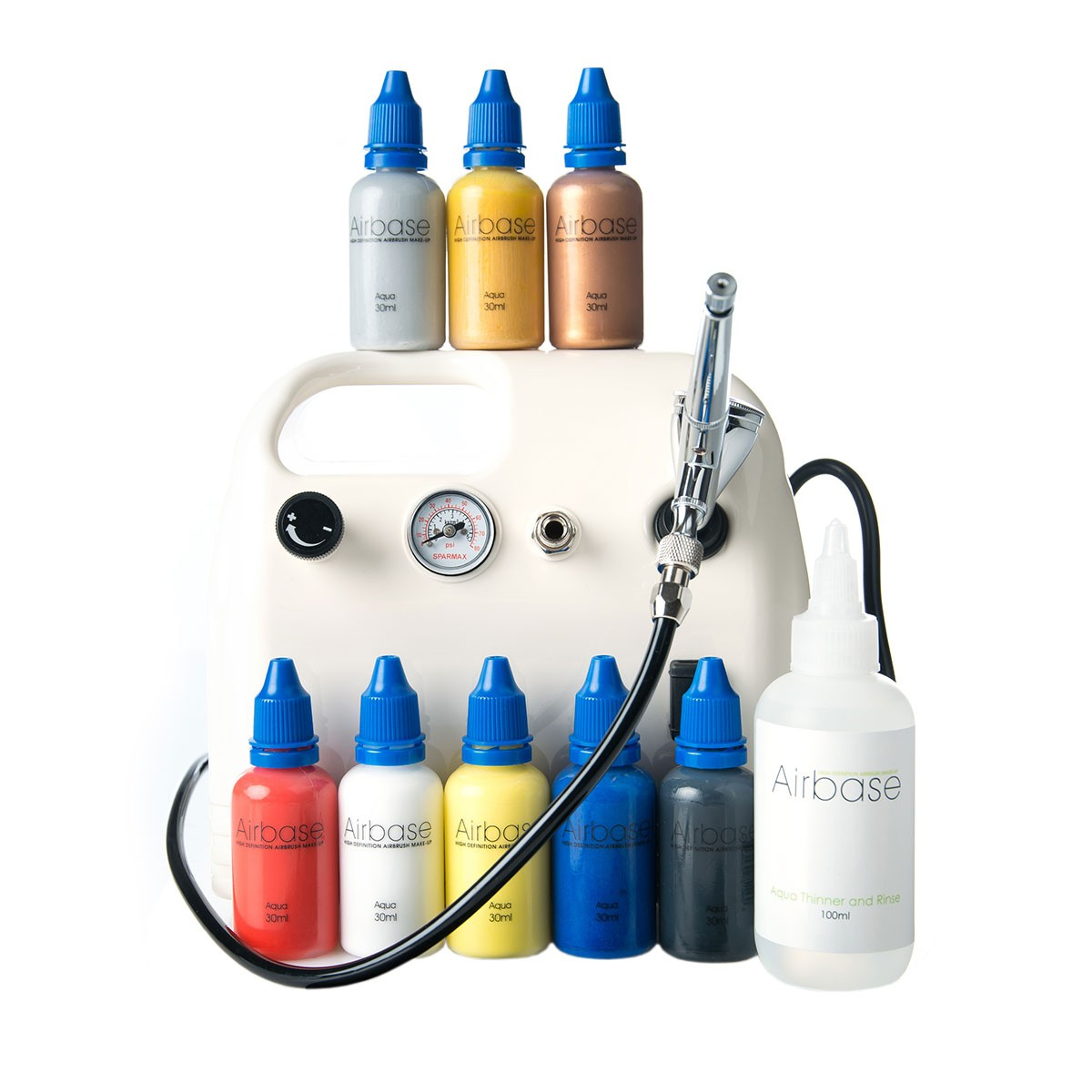Aqua Primary Essentials Pack with Compressor and Airbrush