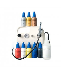 Airbrush Body Art Kit - 8 Primary Colours